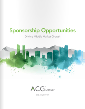 ACG Denver Sponsorship Brochure